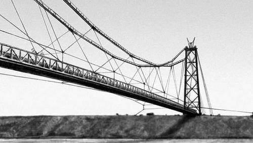 Схема балочно-вантовых мостов.
