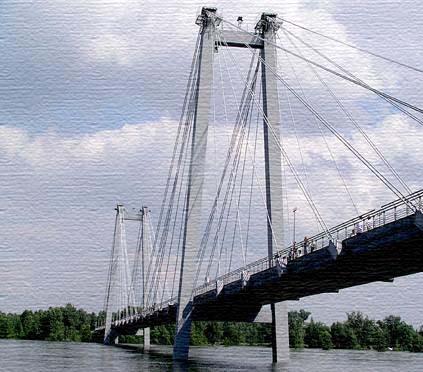 Изгибные колебания мостов.