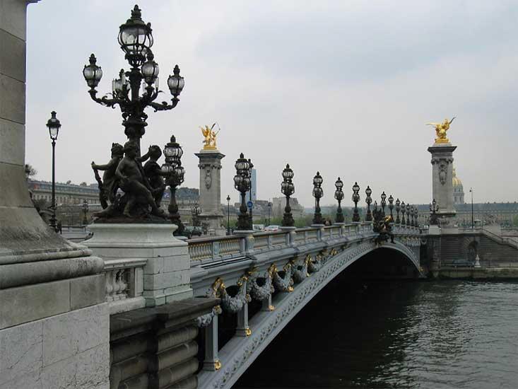 Парижский мост имени александра iii 9