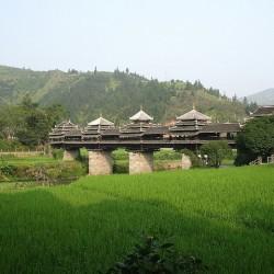 Мост дождя и ветра - уникальное сооружение в Ченьяне