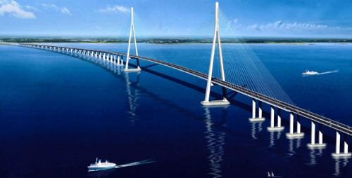 Путепровод через Янцзы - мост Сугун